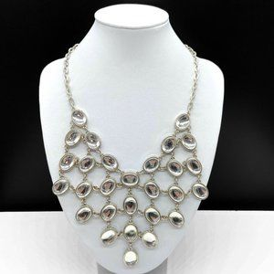 NY&Co Clear Cabochon Bib Statement Necklace
